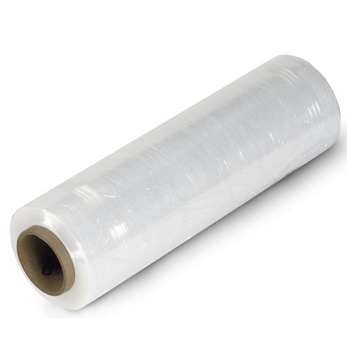 Aviditi SF128CAST Cast Hand Stretch Film Roll, 1500' Length x 12'' Width x 80 Gauge Thick, Clear (Case of 4) by Aviditi