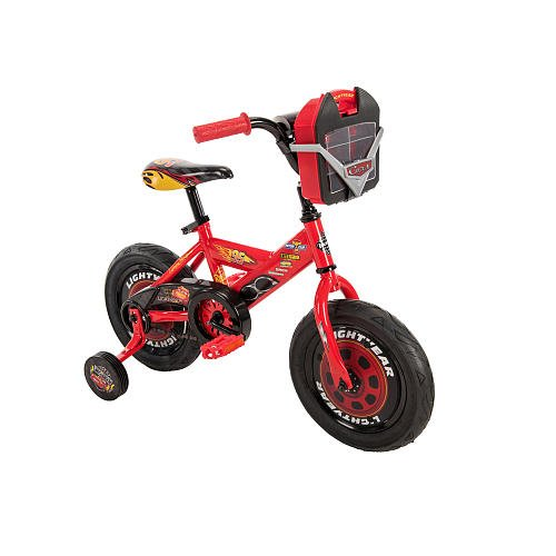 Boys 12 inch Huffy Disney Pixar Cars Bike with Vehicle Storage Case