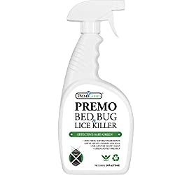 Bed Bug, Lice & Mite Killer Spray 24 Oz – Natural Non Toxic – Child & Pet Friendly – Fast Acting Spray – Stain & Order Free – Best Extended Protection – Industry Approved – Satisfaction Guarantee