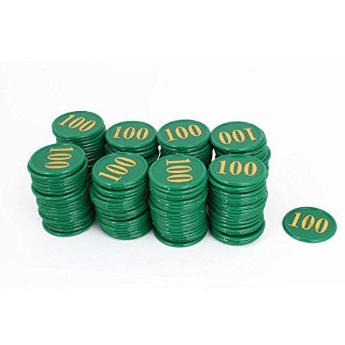 DealMux Números Casino tarjeta de plástico 100 Modelo Redondo fichas de póker 160PCS Verde by DealMux