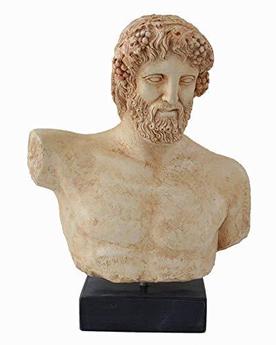 Estia Creations Dionysus - Bacchus Bust- Dionysos God of Wine - Ancient Greece - Museum Replica
