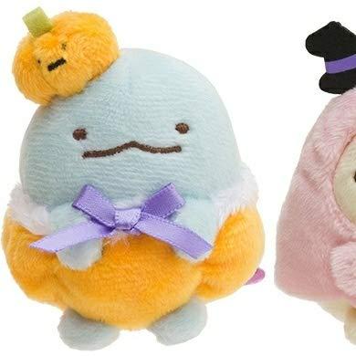 すみっコぐらし ハロウィン てのりぬいぐるみ 先行受注限定 かぼちゃの帽子とかぼちゃパンツ姿のとかげ すみっこぐらし