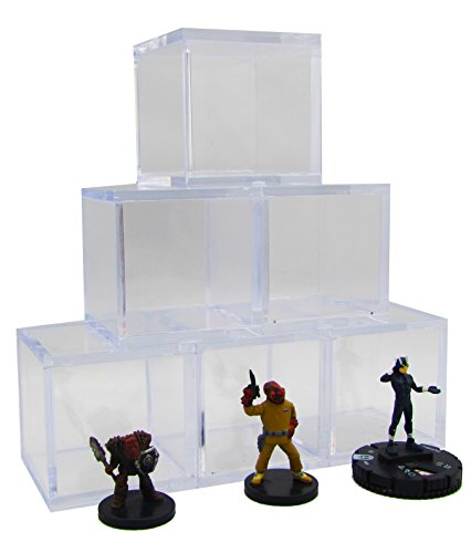 Collectible Miniature Display Cubes - 6 Cubes in Each Box! Holds D&D - Heroclix - Star Wars Miniature Figures! Comes in Golden Groundhog Box!
