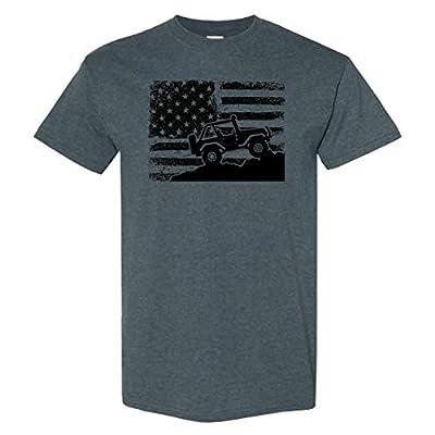 Jeep Wrangler Logo on a Dark Heather T Shirt