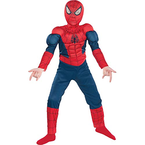 Suit Yourself Classic Spider-Man Muscle Halloween Costume for Boys, Small, Includes Headpiece]()