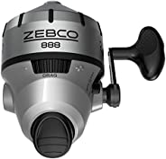 Zebco 888 Spincast Fishing Reel, 3 Bearings (2 + Clutch), Instant Anti-Reverse, Smooth Dial-Adjustable Drag, S