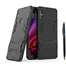 Redmi Note 5 Pro Armor Case DWaybox 2 in 1 Hybrid Heavy Duty Armor Hard Back Case Cover with Kickstand for Xiaomi Redmi Note 5 Pro/Redmi Note 5 5.99 Inch (All Black)