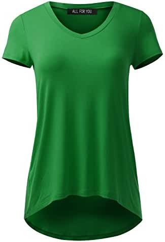 ALL FOR YOU Women's Mini V-Neck Tunic Made in USA