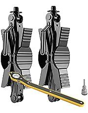 TXSOLAR Camper Wheel Chock Stabilizer Scissor 2 Sets for RV Travel Trailer tire chalks Rust Proof