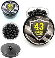 100 x Hard Rubber Balls Paintballs Reballs 43 Cal. for Shooting Home and Self Defense