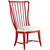 Hooker Sanctuary Tall Spindle Dining Side Chair in Red