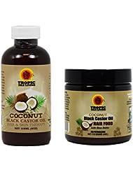 "Tropic Isle Living Jamaican Black Castor COCONUT Oil & COCONUT Hair Food ""Set"""