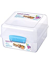 Sistema To Go Collection Lunch Cube, 47.3 oz./1.4 L, Clear/Blue