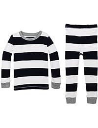 Baby Pajamas, Tee and Pant 2-Piece PJ Set, 100% Organic Cotton