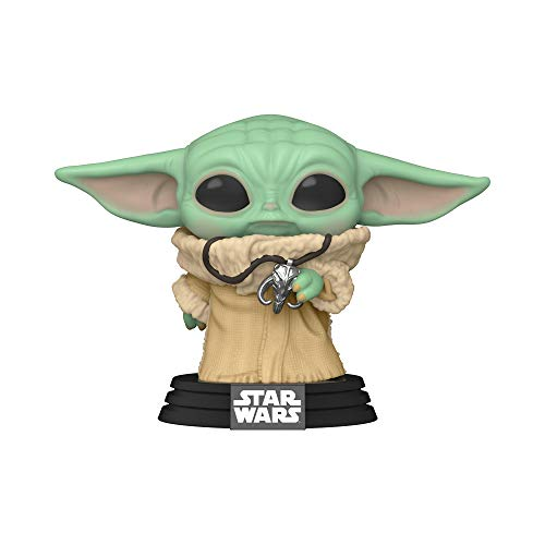 Funko- Pop Star Wars Mandalorian-The Child w/Necklace (Amazon Exclusive) Figura Coleccionable, Multicolor (50211)