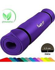Movit XXL Pilates Gymnastikmatte, Yogamatte, phthalatfrei, SGS geprüft, 190 x 100 x 1,5cm oder 190 x 60 x 1,5cm, Yoga Matte in 12 unterschiedlichen Farben