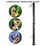 JAXPETY Solar Heated Shower w/Shower Head and Foot