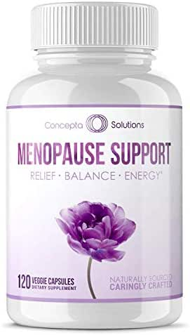 Menopause Relief Supplement Weight Management - Natural Support & Energy, Hormonal Balance, Reduce Hot Flashes Cold Sweats & Mood Swings - 120 Capsules (60 Day Supply)