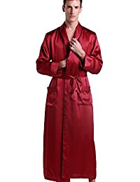 21b07646ea Mens Pure Silk Robe 22 Momme Bath Robes Luxury Contra Full Length 100  Natural Pure Silk