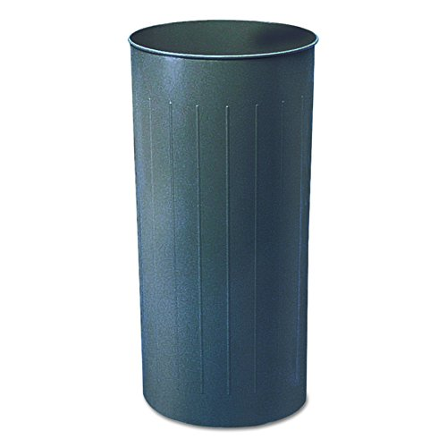 Safco Products 9610CH Round Wastebasket, 80-Quart, Charcoal Steel 20 Gallon Charcoal