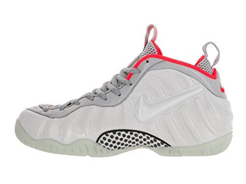 Nike Herren Air Foamposite Pro Prm Basketballschuhe Silbern