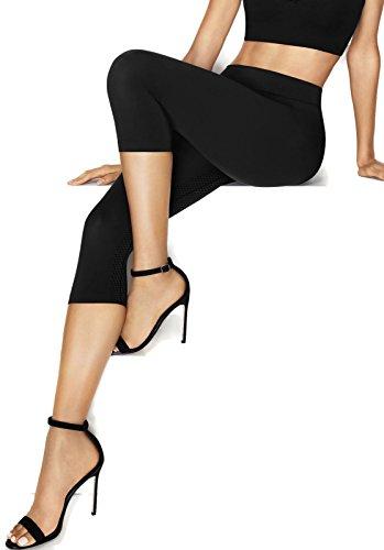 Hanes Perfect Bodywear Seamless Capri (HST007) XL/Black (Black Capris Hanes)
