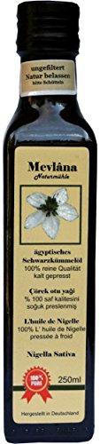 Mevlâna 100% Naturreines Ägyptisches Schwarzkümmelöl 250 ml, UNGEFILTERT, EIGENE HERSTELLUNG,