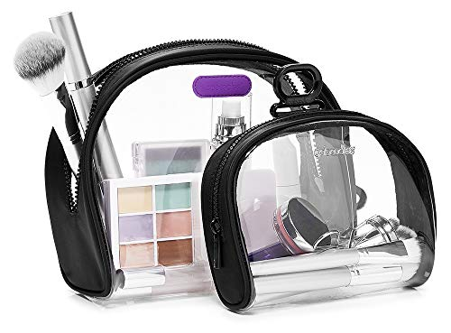 Caboodles Active by Simone Biles See Me Duo Clear Bag for Cosmetics & Essentials (Active Cosmetics)
