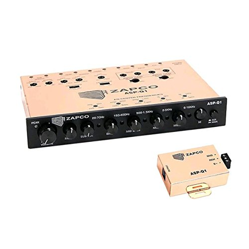(Zapco ASP-Q1 6 Channel Dash Mount Equalizer)