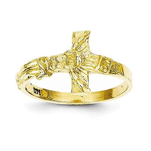 Diamond Cut Crucifix Ring - Jewelry Adviser Rings 14K Diamond-cut Crucifix Ring