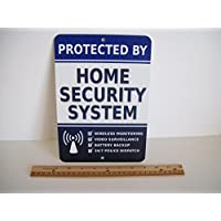 Home Security Alarm System 7 x 10 Metal Yard Sign - Stock # 713