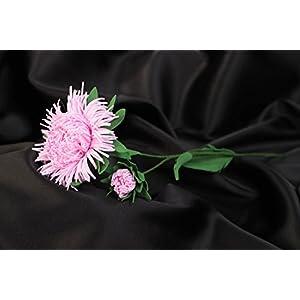 Handmade Volume Artificial Foamiran Flower Pink Aster For Interior Decoration 85