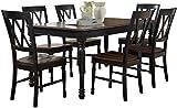 Crosley Furniture KF20001-BK Shelby 7-Piece Dining Set, Black