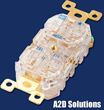 Amazon.com: wattgate 381 AU Evo Gold Plated – Clear Audio ...