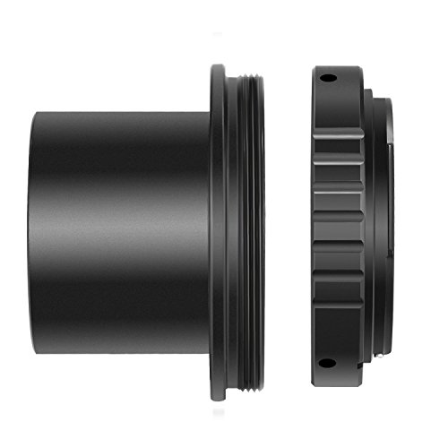 Neewer T-Ring and M42 to 1.25 inch Telescope Adapter (T-Mount) for Canon EOS 5d, 5d Mark II, 50d, 60d, 20d, 30d, 40d, 350d, 400d, 450d, 500d, 550d, 600d, 1100d, Digital Rebel T4i, T3i, T2i and More (Best Telescope For Canon Dslr)