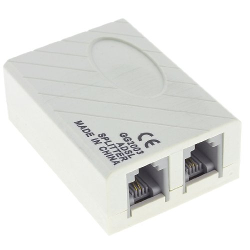 uxcell 1 to 2 RJ11 6P2C Female Socket Phone Modem ADSL Splitter Filter