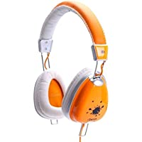 IDANCE FUNKY300 Headphones, White/Orange