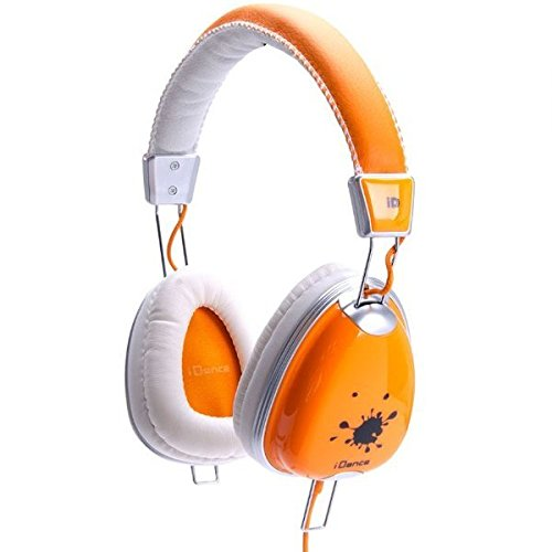 IDANCE FUNKY300 Headphones, (Orange Dj Headphones)