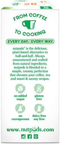 nutpods Hazelnut Dairy-Free Creamer (4-pack) Unsweetened Whole30/Paleo/Keto/Vegan