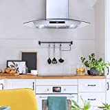 Cosmo Wall Mount Range Hood with Soft Touch