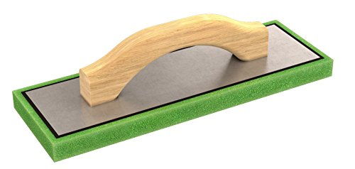 (Bon 83-102 12-Inch by 4-Inch by 3/4-Inch Fine Green Foam Float with Wood Handle)
