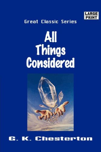 Download All Things Considered (Large Print) pdf epub