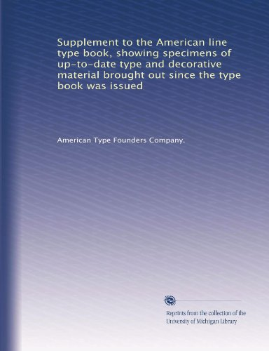 american type founders company - 5