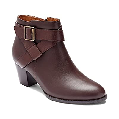 Vionic Women's Upright Trinity Ankle Boot - Ladies Boots with Concealed Orthotic Arch Support   Shoes