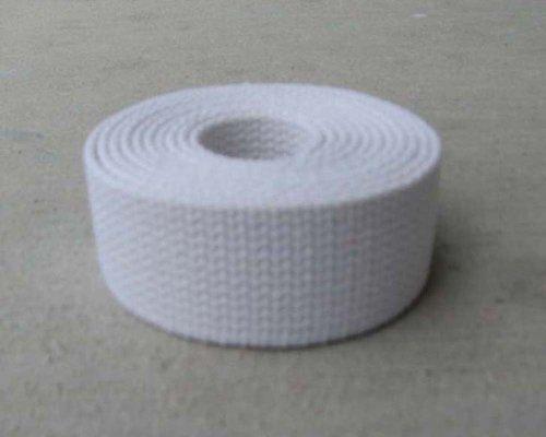 "Cotton Webbing 1 1/4"" White Heavy Weight 5 Yards"