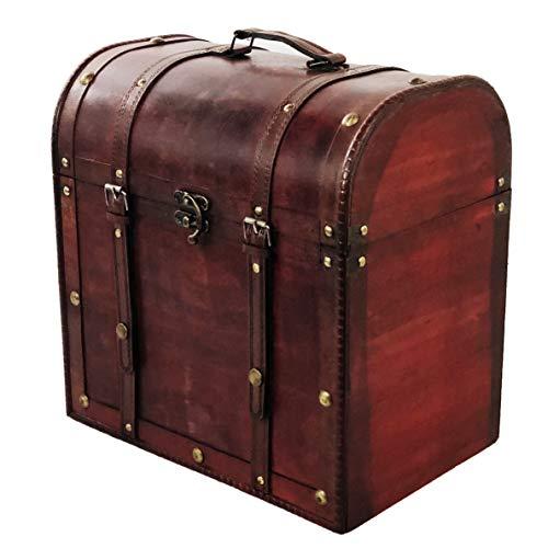 Allgala Wooden Wine Bottle Box with Antique Finish, 6 Bottle