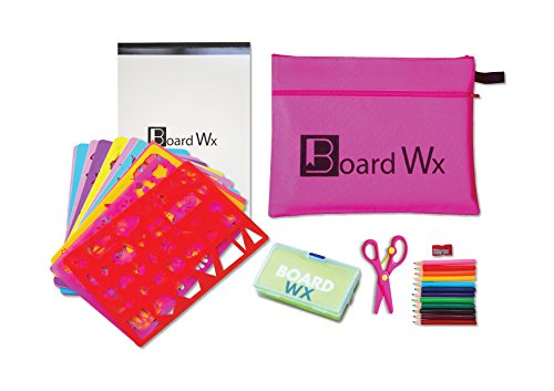Board Wx Jumbo Drawing Stencils Kit for Kids, Pink