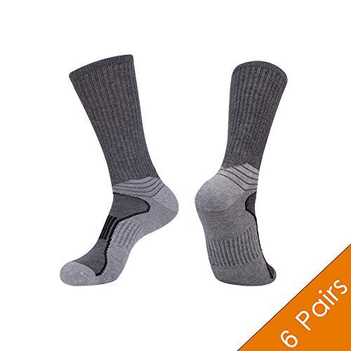 Mens Athletic Socks 6 Pack Crew Socks Men Pack Mens Arch Compression Running Jogging Socks