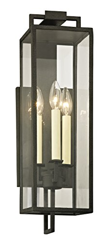 Troy Lighting B6382 Beckham Outdoor Wall Sconce, Forged Iron (Iron Finish Entry)