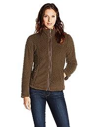 White Sierra Women's Wooly Bully Zip Jacket, Large, Breen